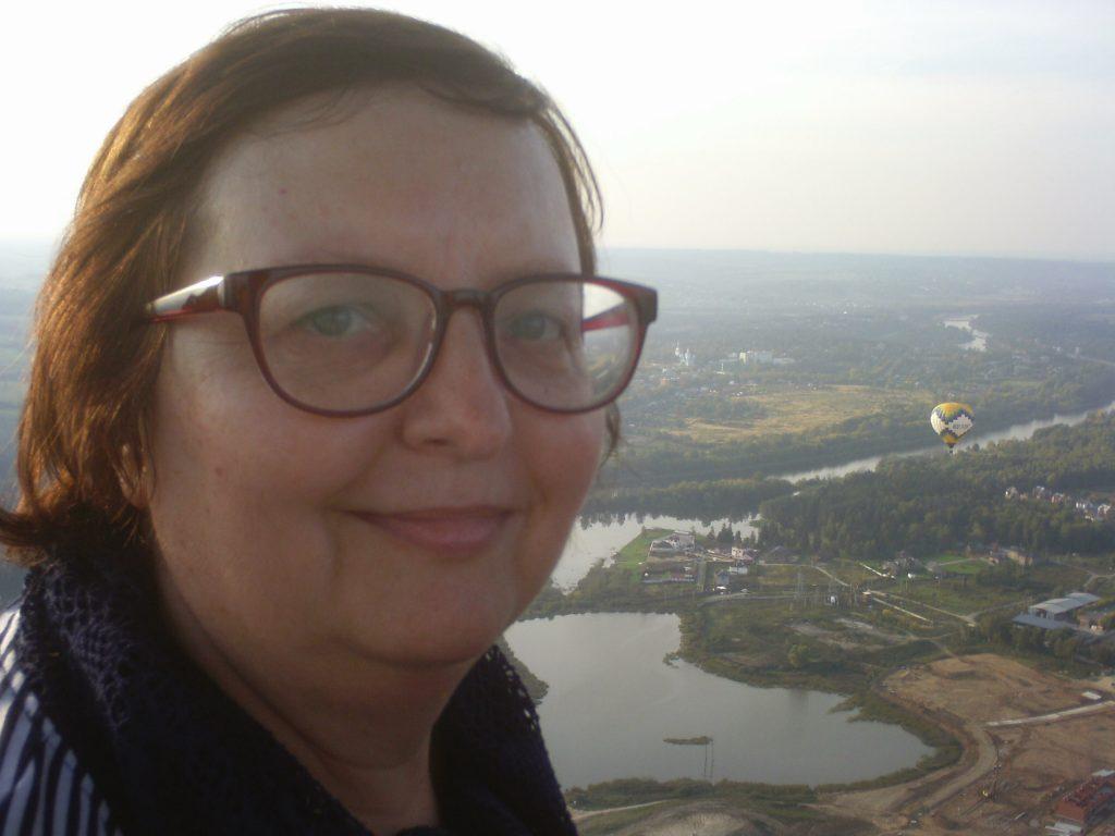 Ольга Владимировна Голотвина на воздушном шаре